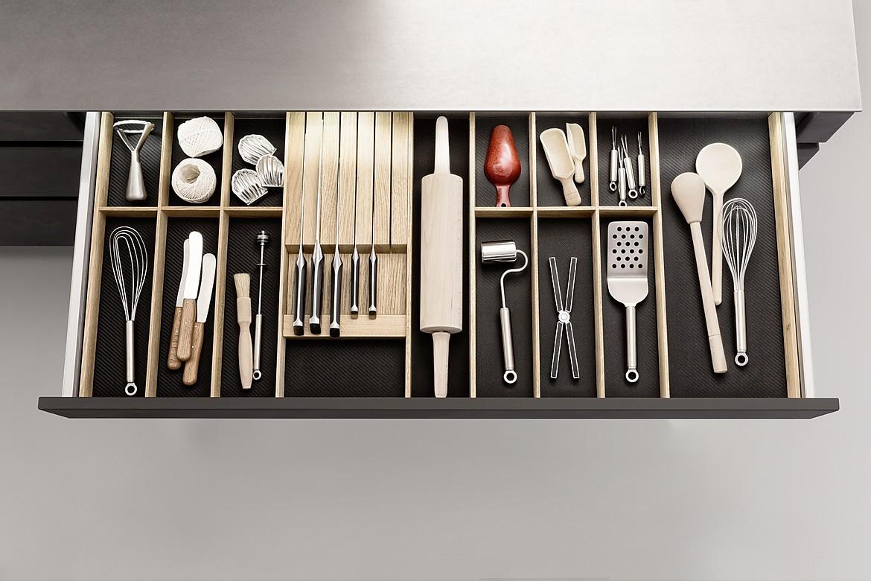 q box mit besteckeinsatz und messerblock. Black Bedroom Furniture Sets. Home Design Ideas