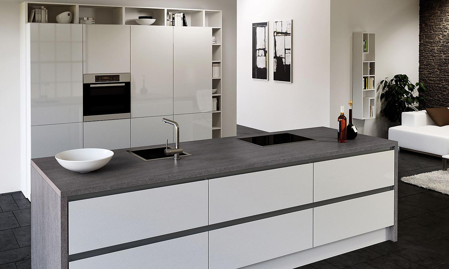 Wangen und Stollen im Design der Arbeitsplatte  KüchenAtlas