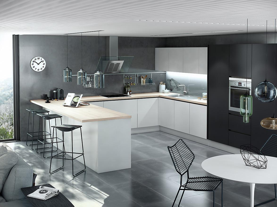 Die Küchenarbeitsplatte als Theke, Bar oder Tisch  KüchenAtlas