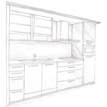 Planning example 1: single kitchen