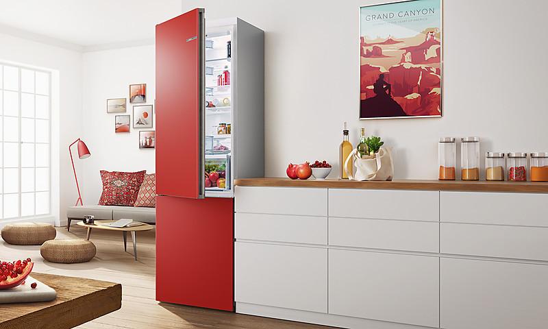 Kühlschrank Farbig Bosch : Bosch vario style kühlschränke mit farbigen fronten