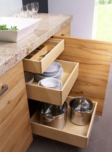 Küche Aus Hellem Vollmassivholz (Vollholzküche)