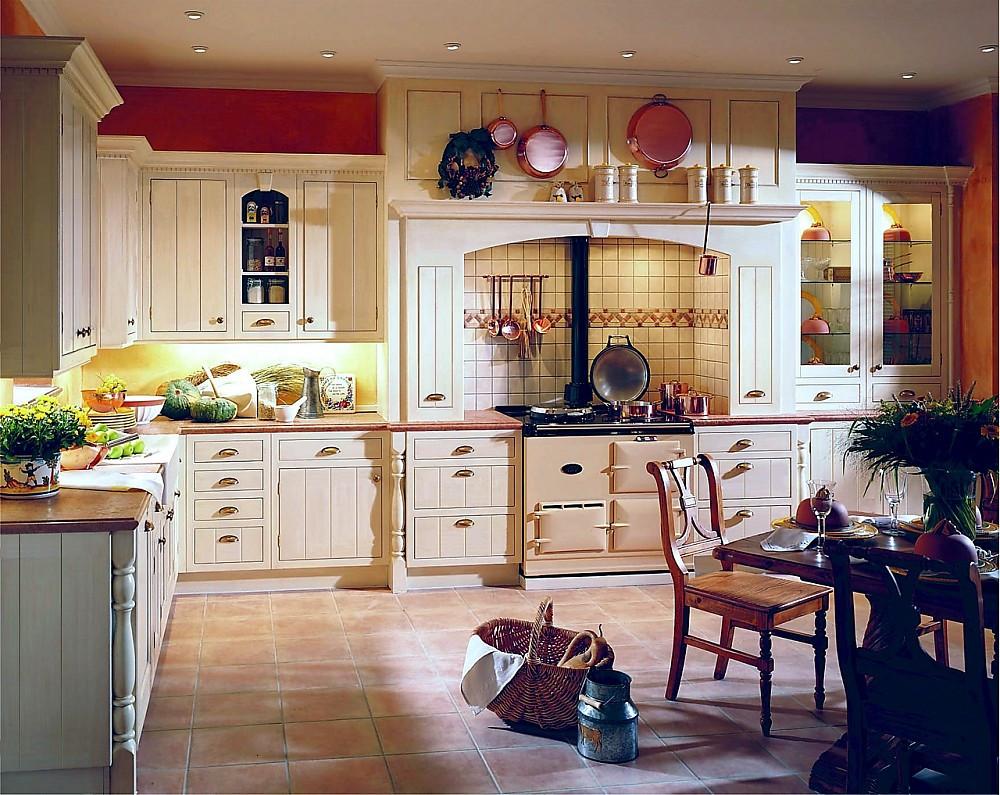 Englische Küche englische l form landhausküche cornwal in creme