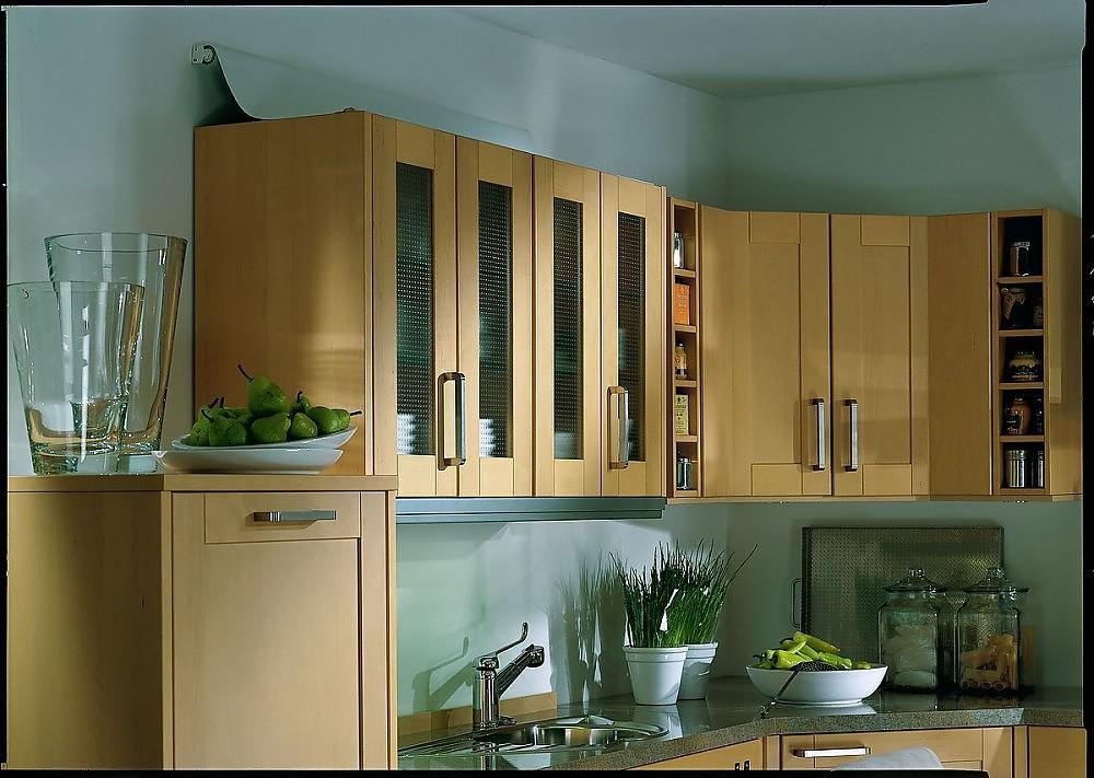 lavia comfort mobile k che aus hellem holz. Black Bedroom Furniture Sets. Home Design Ideas