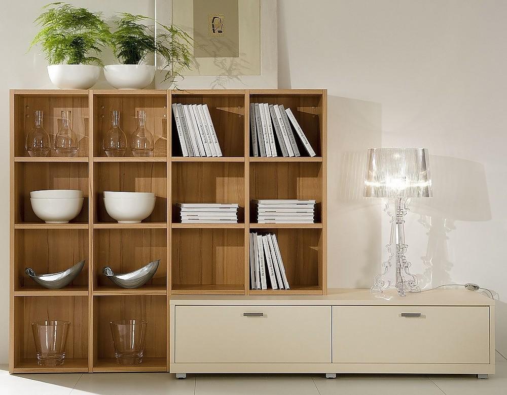 sideboard in kieselgrau mit aufsatzregal aus holz. Black Bedroom Furniture Sets. Home Design Ideas
