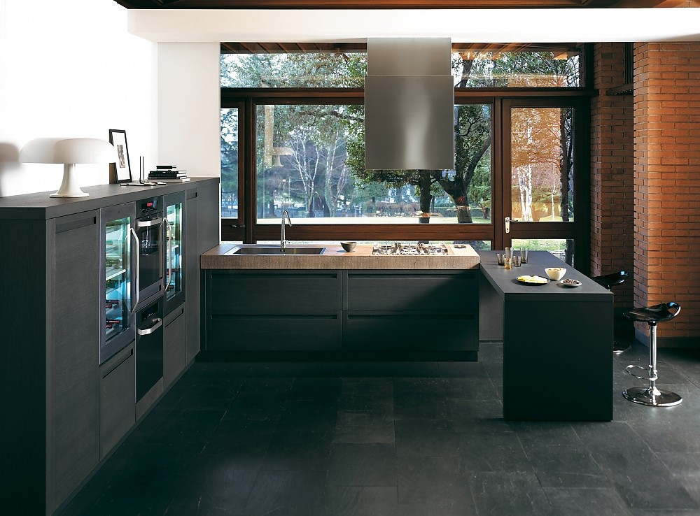 Küchen Mit Sitzgelegenheit terra 1 schwarz