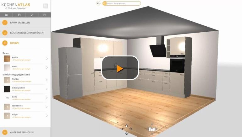 Küchenplaner online - Kostenlos, ohne Download und in 9D